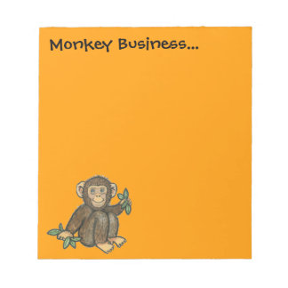 Monkey Business Note Pad