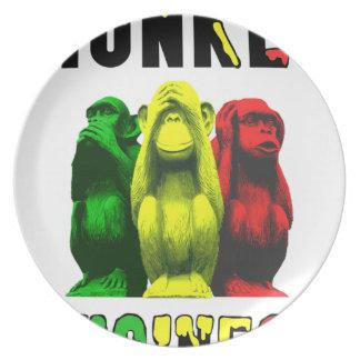 Monkey business plate