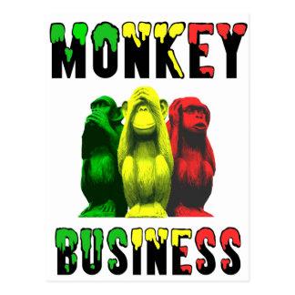 Monkey business postcard