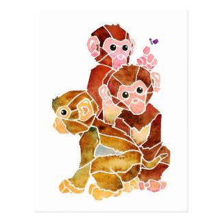 """Monkey Business"" Postcard"