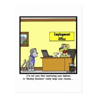 Monkey Business Postcards