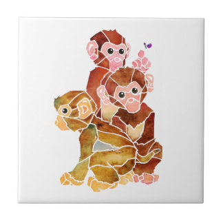 """Monkey Business"" Tile"