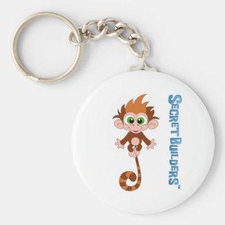Monkey Button Key Ring