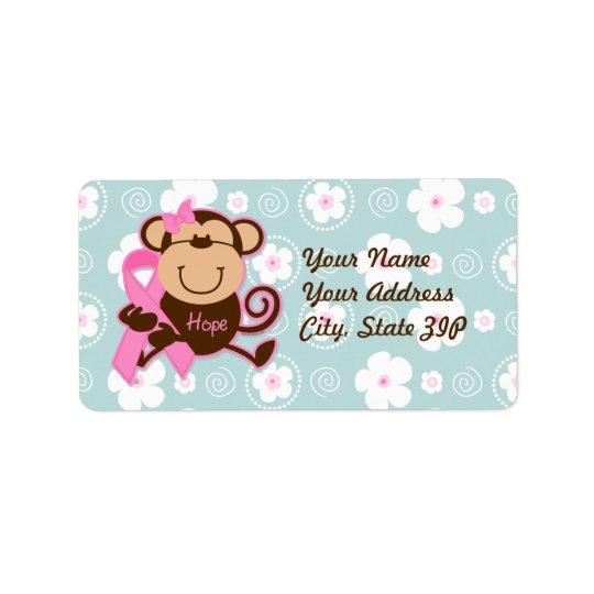 Monkey Cancer Hope Label Address Label