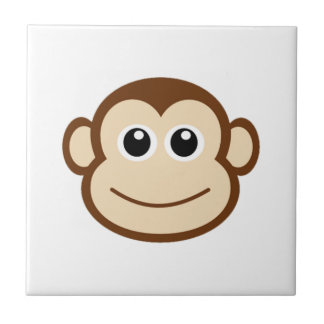 Monkey Cartoon Small Square Tile