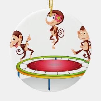 Monkey Ceramic Ornament