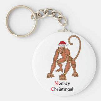 Monkey Christmas Keychains