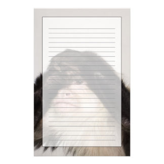 Monkey covering its eyes custom stationery
