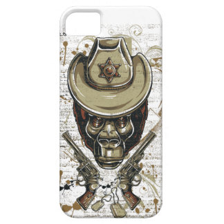 monkey cowboy skull with twin guns case for the iPhone 5