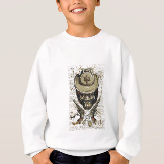 monkey cowboy skull with twin guns sweatshirt
