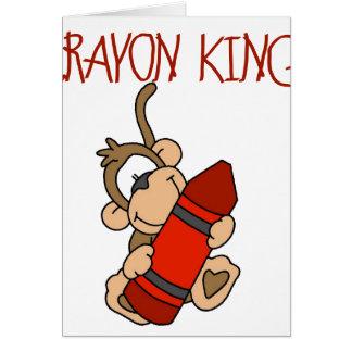 Monkey Crayon King Greeting Card