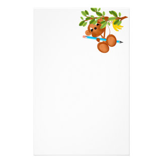 Monkey Dangling from Tree With Pencil Stationery