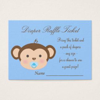 Monkey Diaper Raffle Tickets