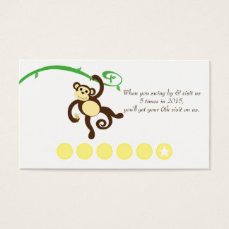 Monkey Discount Promotional Punch Card