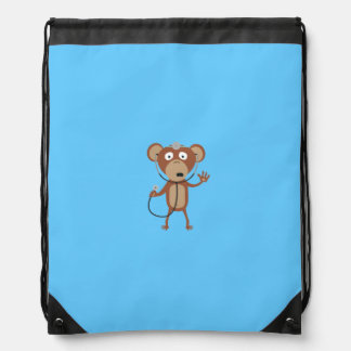 monkey doctor drawstring bag