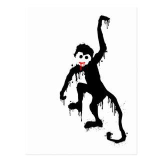 monkey dripz postcard
