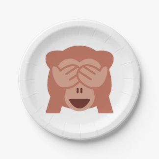 Monkey Emoji 7 Inch Paper Plate