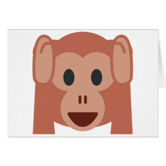 Monkey emoji card