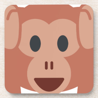 Monkey emoji drink coasters