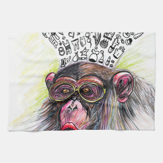 Monkey explosion. Woman Tea Towel
