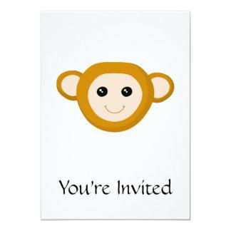 Monkey Face 13 Cm X 18 Cm Invitation Card