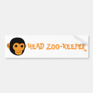 Monkey Face Car Bumper Sticker