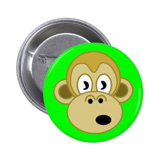 Monkey Face Button - Green