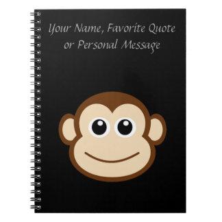 Monkey Face Cartoon Notebook
