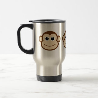 Monkey Face Cartoon Travel Mug