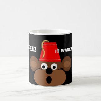monkey face, COFFEE!, IT WAKES MY MONKEY UP! Coffee Mug