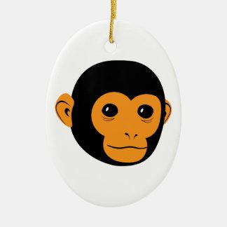 Monkey Face Christmas Ornament