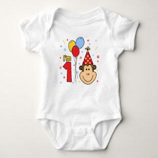 Monkey Face First Birthday Baby Bodysuit
