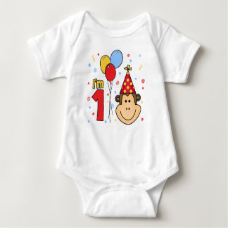 Monkey Face First Birthday T-shirt