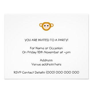 Monkey Face Personalized Invitation
