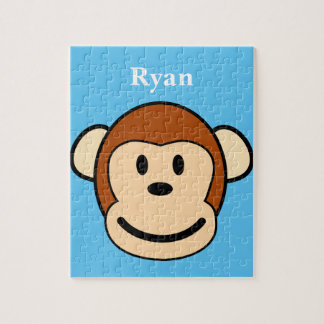 Monkey Face Personalized Jigsaw Puzzle