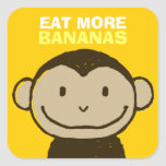 Monkey Face Square Sticker