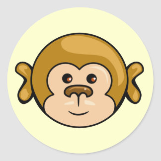 monkey face stickers
