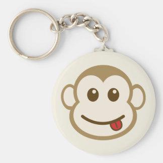 Monkey Face Vector Art Key Ring