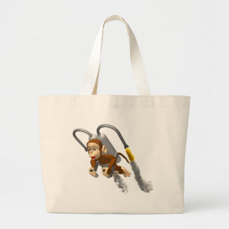 Monkey Fly Large Tote Bag
