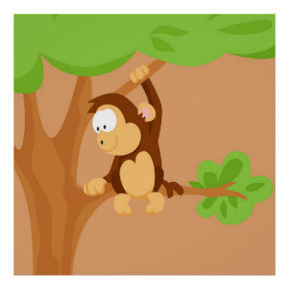 Monkey from my world animals serie poster
