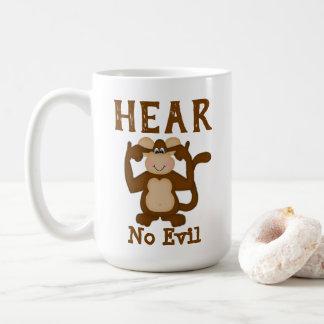 Monkey Funny Hear No Evil Coffee Mug