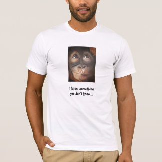 Monkey Funny Know Something Shirt