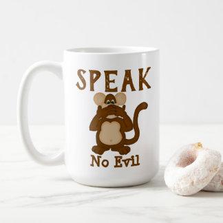 Monkey Funny Speak No Evil Coffee Mug