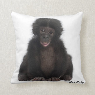 Monkey Fur Baby Design Grade A Cotton Throw Pillow