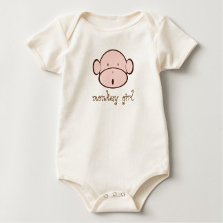 Monkey Girl Baby Bodysuit