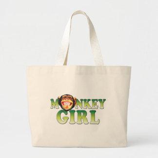 Monkey Girl Large Tote Bag
