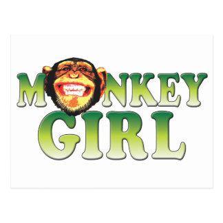 Monkey Girl Postcard