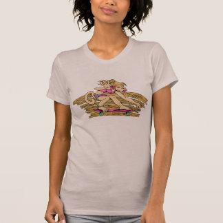 Monkey Girl Skateboarding Gear T-Shirt