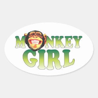 Monkey Girl Sticker