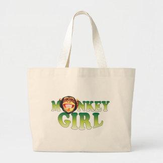 Monkey Girl Jumbo Tote Bag